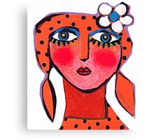 Dotty Annie  Canvas Print