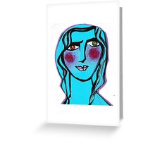 Cerulean Cecilia Greeting Card