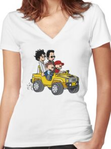 Hitting Queens Boulevard Women's Fitted V-Neck T-Shirt