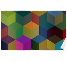 Cube Pattern Poster