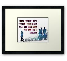 u2 beautiful day Framed Print