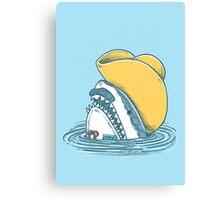 Funny Hat Shark Canvas Print