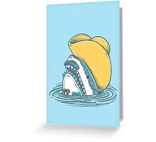 Funny Hat Shark Greeting Card