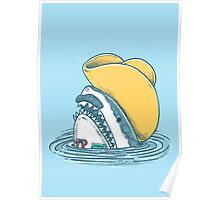 Funny Hat Shark Poster