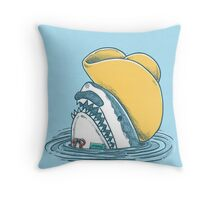 Funny Hat Shark Throw Pillow