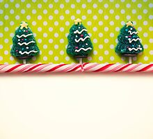 Christmas background with candies by Bastetamon