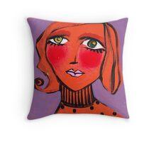 Twiggy Tangerine Throw Pillow