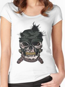 Crazy Skull Women's Fitted Scoop T-Shirt