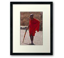 Casual Kenyan Framed Print