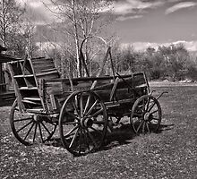 Chuckwagon at Ft. Bridger (Copper-Red Toned) by Brenton Cooper