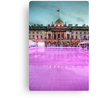 Skating at Somerset House Canvas Print