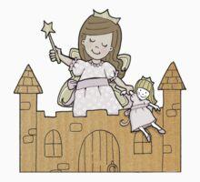 Cardboard Kid Castle (Little Stars Collection) One Piece - Long Sleeve