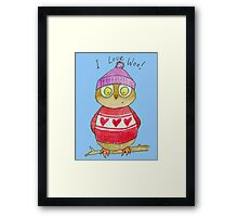 I Love Woo Owl  Framed Print