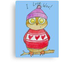 I Love Woo Owl  Canvas Print
