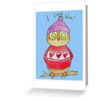 I Love Woo Owl  Greeting Card