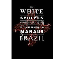White Stripes poster design (black)  Photographic Print
