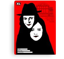 The white stripes poster design  Canvas Print
