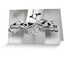 Black Vines Greeting Card