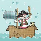Cardboard Kid Pirate (Little Stars Collection) by MissIllustrator