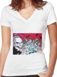 Zombie walking dead Women's Fitted V-Neck T-Shirt