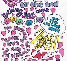 """""""You & I"""" Lyric Drawing by Drawingsbymaci"""