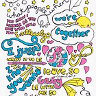 """Happily"" Lyric Drawing by Drawingsbymaci"