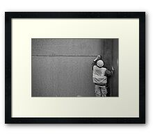 Just a little to the right... Framed Print