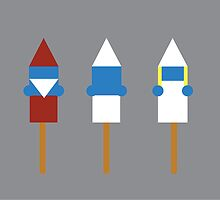 Popsicle Smurfs by SVaeth