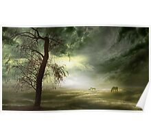 Equine Silhouettes Poster