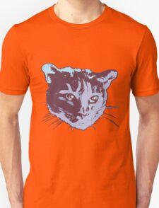 Cool Cat Head Graphic ~ blue  Unisex T-Shirt