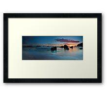 Whangamata Island Dawn Blush Framed Print