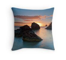 Te Teko Rocks Dawn Throw Pillow