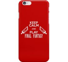 Keep Calm And Play Final Fantasy iPhone Case/Skin