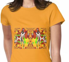Exoplanet Aliens Having a Ball Womens Fitted T-Shirt