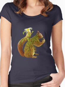 Daisy Squirrel Women's Fitted Scoop T-Shirt
