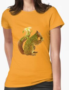 Daisy Squirrel Womens Fitted T-Shirt