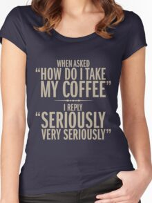 How do I take my coffee Women's Fitted Scoop T-Shirt
