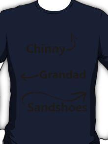 """My associates, Grandad and Sandshoes"" T-Shirt"