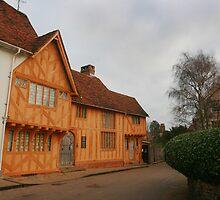 Classic Tudor colours in Lavenham by miradorpictures