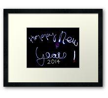 Happy New Year 2014 !!!!!!!!!!!!!!!!!!! Framed Print