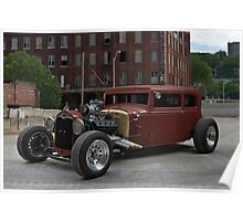1930 Ford Victoria Hot Rod Poster