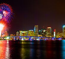 Miami Fireworks by lattapictures