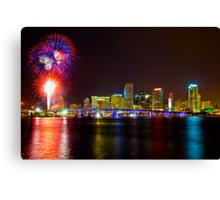 Miami Fireworks Canvas Print
