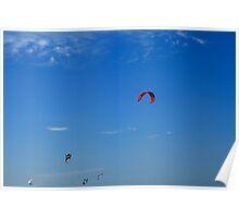 Kite Board Kites And Blue Sky Poster