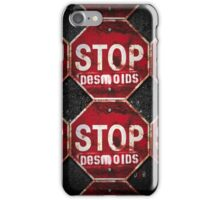 STOP DESMOIDS — ASPHALT iPhone Case/Skin