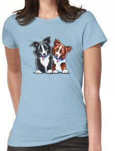 Little League Border Collies Womens Fitted T-Shirt