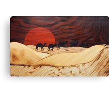 Desert landscape marquetry Canvas Print