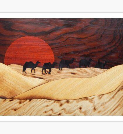Desert landscape marquetry Sticker