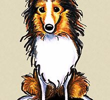 Sable Sheltie Sit Pretty by offleashart
