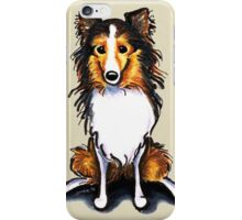 Sable Sheltie Sit Pretty iPhone Case/Skin
